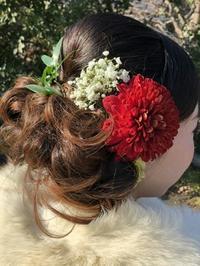 成人式の髪飾り2018 - 北赤羽花屋ソレイユの日々の花