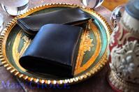 イタリアンレザー・エルバマット・コンパクト2つ折り財布とL型ペンケース・時を刻む革小物 - 時を刻む革小物 Many CHOICE~ 使い手と共に生きるタンニン鞣しの革