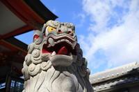 尼崎市内六十六社  七松 八幡神社 狛犬(吽形) - 狛犬の尻尾
