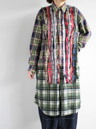 Rebuild By NeedlesFlannel Shirt → Ribbon Dress - 『Bumpkins putting on airs』