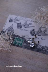 ◆素敵なヴィンテージビーズで手作りピアス♪ - フランス雑貨とデコパージュ&ギフトラッピング教室 『meli-melo鎌倉』