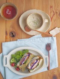 サンドイッチの朝ごはん - 陶器通販・益子焼 雑貨手作り陶器のサイトショップ 木のねのブログ