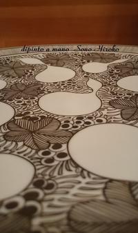 ひょうたんの大皿途中経過☆ - Italian styleの磁器絵付け