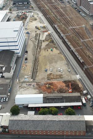 中京倉庫の工事 - 熱田観測所