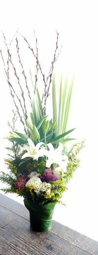 お父様の御命日にアレンジメント。月寒東1条にお届け。2019/01/07。 - 札幌 花屋 meLL flowers