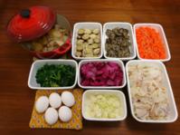 2019/1/14常備菜(大根のそぼろ煮など)*きょう図書館から借りてきた本 - お弁当と春の空