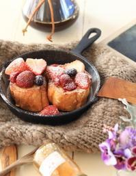 フレンチトーストの朝ごはん - ゆきなそう  猫とガーデニングの日記
