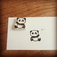 パンダはんこと郵便屋ネコちゃんはんこ♪ - kedi*kedi