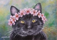 黒猫油絵№4 - 油絵画家、永月水人のArt Life