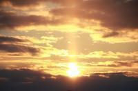 太陽柱2019.1.14夕方 - 北東北お天気BLOG