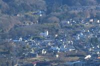 長瀞の町と山と白煙- 2019年正月・秩父 - - ねこの撮った汽車