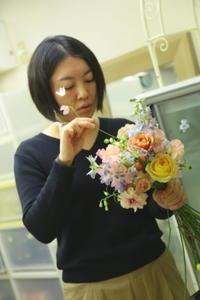 1月15日ふんわりパステルミックスカラーのブーケレッスン花材 - 一会 ウエディングの花