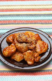 鶏ささみのコチュジャン炒めと、小正月 - 瞬速おつまみ!