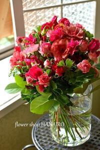 ラナンキュラス「ムーサ」を使った花束。 - 花色~あなたの好きなお花屋さんになりたい~