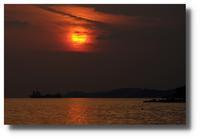 播磨灘に夕陽落ちる - かな坊の独り言