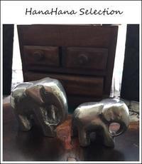 スリランカの象さん親子置物 - HanaHana Selection