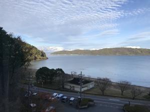 冬の琵琶湖めぐり #4 湖に浮かぶ島へ  - あかね雲キレイ♪