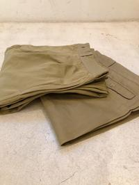 50's French Army Chino Trousers Dead Stock!  Before Wash&After Washed - DIGUPPER BLOG