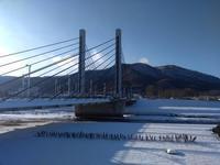 冬の藻岩山とミュンヘン大橋 - nshima.blog