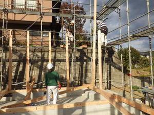 紅葉が丘の家 建て方作業開始です! - 岩井沢工務所の現場日記