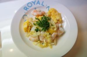【白菜と海老・卵のにんにく塩炒め(レシピ)】 -