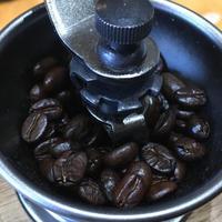 手網焙煎豆でひと休憩 - ズームでバッチリ