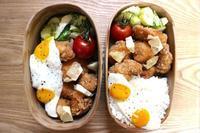 鶏のから揚げ弁当と稀勢の里 - オヤコベントウ