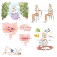 大人のおしゃれ手帖--エクササイズ、医療系イラスト - 女性誌を中心に活動するイラストレーター ★★清水利江子の仕事ブログ