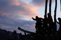 野沢温泉村道祖神祭り1/14社殿造り2道具 - 野沢温泉とその周辺いろいろ2