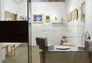 2019.1.9(水)~1.14(木) 鏡 安希 個展「聖なる子たちの物語」@ 最終日 - gallery 子の星