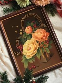 「お正月」作品 の 描き進め方です。 - 大畑悦子の想い出ペインティング