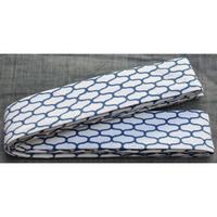 9522回 凧人オリジナル綿紬袢纏帯網目納戸 - 今日の凧人