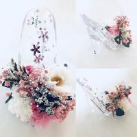 乙女の想いをのせて恋するガラスの靴/プリザーブドフラワー - プリザーブドフラワーアレンジメント制作日記