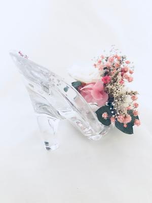 乙女の想いをのせて恋するガラスの靴/プリザーブドフラワー -