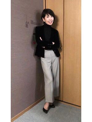 黒トップス時のウインターメイク - 中村 維子のカッコイイ50代になる為のメモブログ