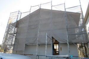「飛香台の家」軒裏塗装 - Moja Blog / 青木昌則建築研究所のブログ