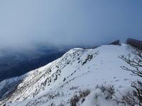 日本百名山雪の伊吹山  (1,377.3M)    下山 編 - 風の便り