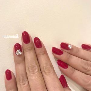 赤ビジューネイル - 表参道・銀座ネイルサロンtricia BLOG