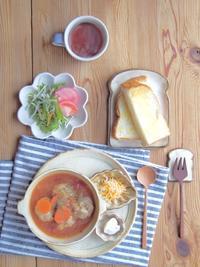 ミートボールスープの朝ごはん - 陶器通販・益子焼 雑貨手作り陶器のサイトショップ 木のねのブログ