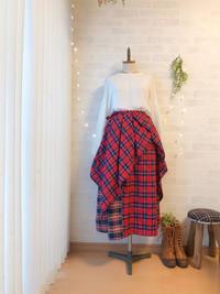 ラップスカート付き♪赤いタータンチェックのスカートが満足の出来(^^) - Kacco(旧ハンドメイド雑貨 シュエット コピーヌ)