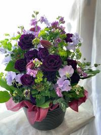 【古希祝い】にパープルのお花を贈る - ルーシュの花仕事