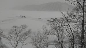 1月18日の様子です。 - 桧原湖 森と川の声  もうひとつの故郷 森川荘