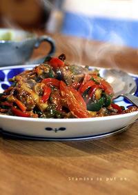 青椒肉絲と寄せ鍋 - KICHI,KITCHEN 2
