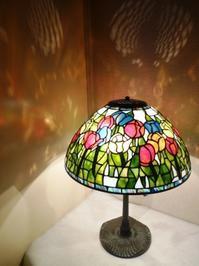 """16""""チューリップのランプ - atelier GLADYS  ステンドグラス工房 作り手の日々"""