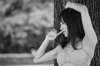 江尻侑華ちゃん57 - モノクロポートレート写真館