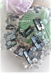 スクエアパーツのモダンネックレス - Bijoux  du  Bonheur ~ビジュー ドゥ ボヌール~