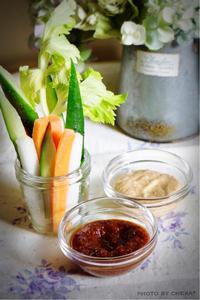 野菜スティック  2種類のディップソース - C* 日和