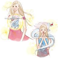 宝島社ムック--女性と龍のイラスト - 女性誌を中心に活動するイラストレーター ★★清水利江子の仕事ブログ
