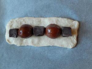 栗とチョコレートのパン -