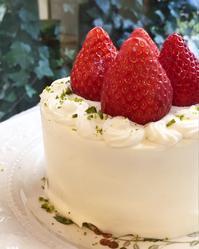 とちおとめショートケーキ - 調布の小さな手作りお菓子教室 アトリエタルトタタン